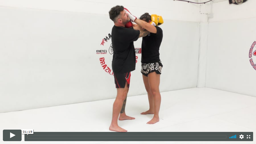 Thai - Two Handed Clinch Defence - Pushing the Face